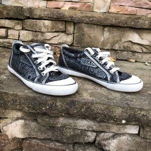 Coach Barrett Black Poppy Sneakers Size 8